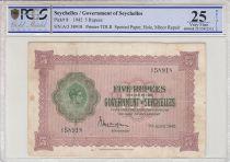 Seychellen 5 Rupees Georges VI - 1942 - PCGS VF 25