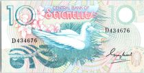 Seychelles 10 Rupees  - Booby bird, girl picking flowers - ND (1983)