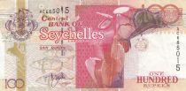 Seychelles 100 Rupees ND2001 - Fleurs, espadon, poissons, tortue, oiseaux, coquillages