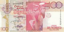 Seychelles 100 Rupees Orchidées - Tortue 1998