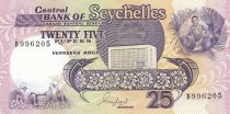 Seychelles 25 Rupees Flying fish - Farm - 1989 - UNC - P.33