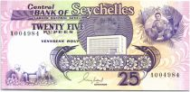 Seychelles 25 Rupees Flying fish - Farm - 1989 - UNC - P.33 Serial A.00