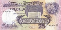 Seychelles 25 Rupees Flying fish - Farm - 1989