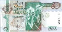 Seychelles 50 Rupees - Orchids, Angel fish - Bird 1998