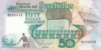 Seychelles 50 Rupees Espadons, Pêcheurs - 1989