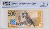 Seychelles 500 Rupees, Crécerelle - 2016 - PCGS 65 OPQ