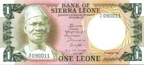 Sierra Leone 1 Leone - S. Stevens - Central Bank - Arms - 1984
