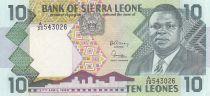 Sierra Leone 10 Leones - Joseph Saidu Momoh - Vache - 1988 - Neuf - P.15