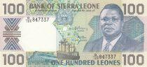 Sierra Leone 100 Leones 1990 - Pdt Joseph Saidu Momoh, navire, bâtiment