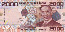 Sierra Leone 2000 Leones I.T.A. Wallace Johnson