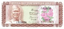 Sierra Leone 50 Cents S. Stevens - Central Bank - Arms - 1984