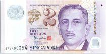 Singapore 2 Dollars E.Y. bin Ishak - Education Polymer - 2018 UNC - P.46i