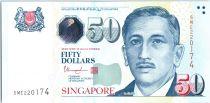 Singapore 50 Dollars E.Y. bin Ishak - Arts - 2018 - UNC - P.49j
