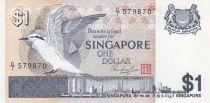 Singapour 1 Dollar 1976 Oiseau, vue de la ville