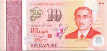 Singapour 10 Dollars, E.Y. bin Ishak - 50 ans de l\'indépendance - 2015
