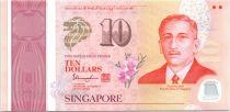 Singapour 10 Dollars, E.Y. bin Ishak - 50 ans de l\'indépendance - Polymer - 2015
