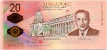 Singapour 20 Dollars E.Y. bin Ishak - 1819-2019 -  Polymer