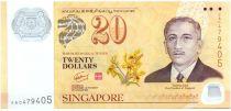 Singapour 20 Dollars E.Y. bin Ishak - 40 ans du CIA - 2007 Polymer