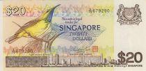Singapour 20 Dollars Oiseau - Concorde - 1979