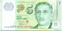 Singapour 5 Dollars E.Y. bin Ishak - Jardin 2014
