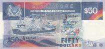 Singapour 50 Dollars Bateau - Pont - ND 1987
