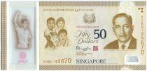 Singapour 50 Dollars E.Y. bin Ishak - 50 ans de l\'indépendance - 2015