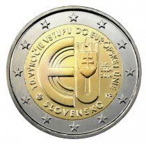Slovakia 2 Euro, Entry in Eu Area 2004 - 2014