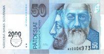 Slovaquie 50 Korun St Cyril - St Method - 2000