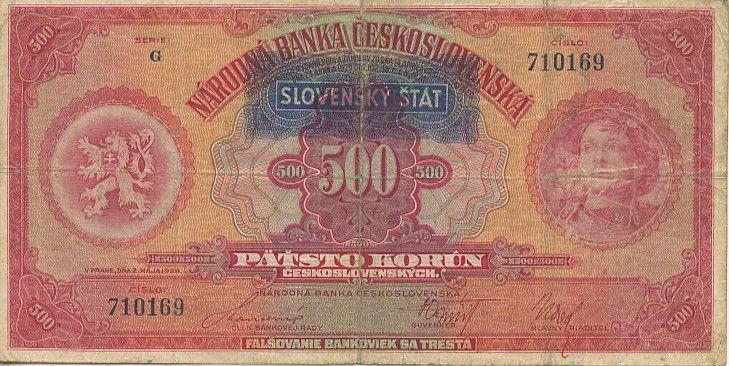 Slovaquie 500 Korun Légionnaire et Liberté
