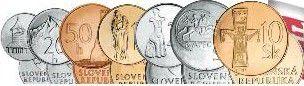 Slovaquie SET.1 Série 7 pièces 2001-2007 Pré ?uro