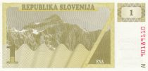 Slovenia 1 Tolar 1990 - Mountain