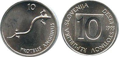 Slovenia 10 Stotinov - Salamander - 1993