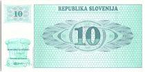 Slovenia 10 Tolarjev, Mountain - 1990 - P.4 - UNC AR