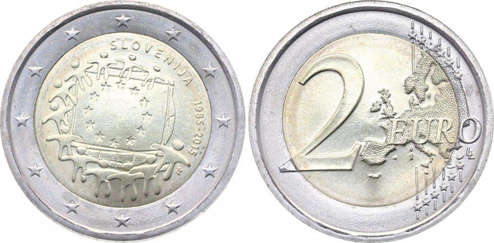 Slovenia 2 Euro 30 years of European Flag - 2015