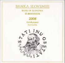 Slovenia UNC Set Slovenia 2008 - 9 euro coins