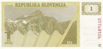 Slovénie 1 Tolar 1990 - Montagne
