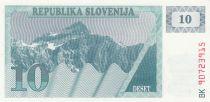 Slovénie 10 Tolarjev 1990 - Montagne