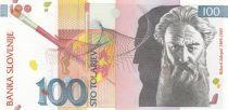 Slovénie 100 Tolarjev  R. Jakopic, pinceau - 2003