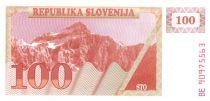 Slovénie 100 Tolarjev 1990 - Montagne
