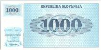 Slovénie 1000 Tolarjev, Montagne - 1991 - P.9 a - Neuf AD