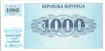 Slovénie 1000 Tolarjev, Montagne - 1991 - P.9 a - Neuf AK
