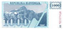 Slovénie 1000 Tolarjev 1990 - Montagne
