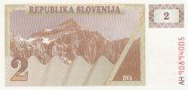 Slovénie 2 Tolarjev 1990 - Montagne
