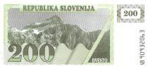Slovénie 200 Tolarjev 1990 - Montagne