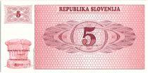 Slovénie 5 Tolarjev, Montagne - 1990 - P.1 - Neuf AA