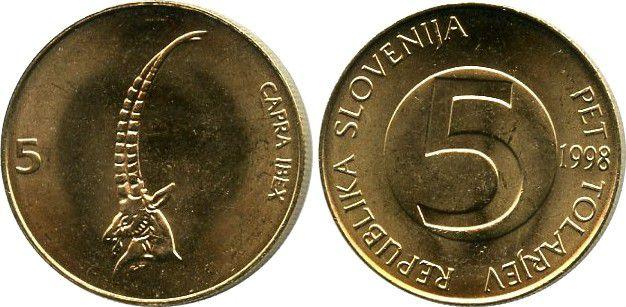 Slovénie 5 Tolarjev