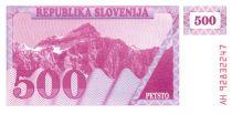 Slovénie 500 Tolarjev 1990 - Montagne