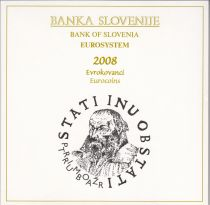 Slovénie Coffret BU Slovénie 2008 - 9 monnaies en euro