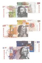 Slowenien Set of 3 banknotes from Slovenia - 1992