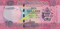Solomon Islands 10 Dollars Arms, flag - Handicraft - 2017
